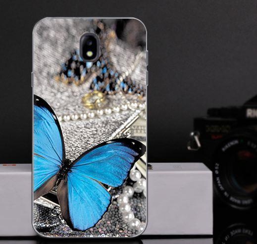 Оригинальный чехол панель накладка для Samsung J330 Galaxy J3 2017 с картинкой Бабочка