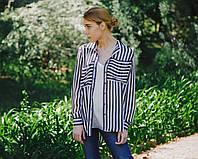 Женская блуза из шифона в полоску