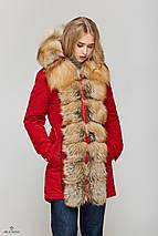 Женская зимняя куртка-парка с натуральным мехом Gold Fox, фото 3