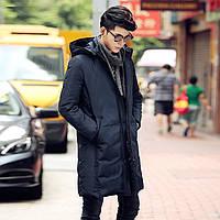 Мужское зимнее пальто пуховик. Пальто с капюшоном.  Модель - 6223.