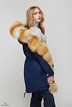 Женская зимняя куртка-парка с натуральным мехом Gold Fox, фото 2