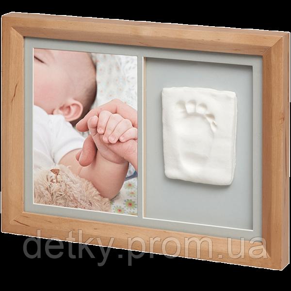 Набор для создания отпечатка ручки или ножки малыша Baby Art Настенная рамка Натуральная - Детки Пром в Киеве