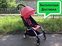 Прогулочная коляска Yoya Baby Time детская складывающаяся красная