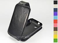 Откидной чехол из натуральной кожи для Sony Xperia Tipo (st21i)