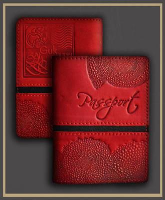 Обложка на паспорт кожаная Guk (4807)