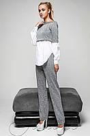 Женский серый спортивный костюм-двойка Шанди Jadone  42-48  размеры