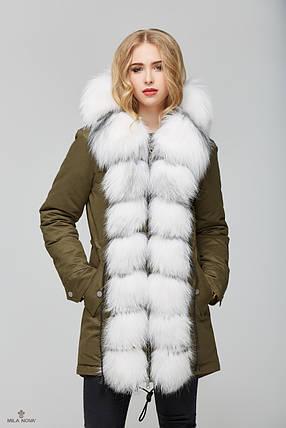 8a5aabcda4a Женская зимняя куртка-парка с натуральным мехом White Fox - Цена 11 ...