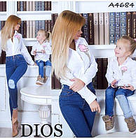 """Рубашка женская """"Мама и Я""""  купить оптом со склада на 7 км """"Dios"""" 2P/GA-4684"""