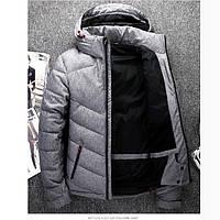 Мужской зимний спортивный пуховик с капюшоном. Модель 6224.