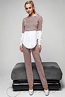 Женский розовый спортивный костюм-двойка Шанди  Jadone  42-48  размеры