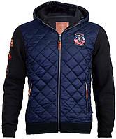 Куртка-реглан Top Gun Quilted Fleece Hoodie with Patches (синяя)
