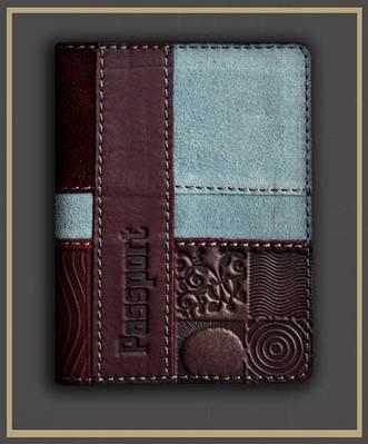 Обложка на паспорт кожаная Guk (5607)
