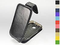 Откидной чехол из натуральной кожи для LG P690 / P698 Optimus Link