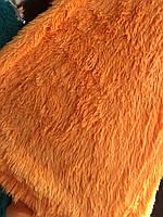 Покрывало  меховое с длинным ворсом мишка 220х240 цвет оранжевый, фото 1