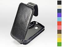 Откидной чехол из натуральной кожи для LG P500 Optimus One