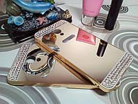 Чехол для Meizu M3 Note (5.5 дюймов) - зеркальный со стразами!