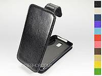 Откидной чехол из натуральной кожи для LG Nitro HD P930