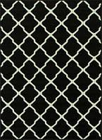 Ковер черно-белый Клевер 1.2 x 1.7 м