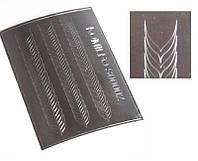 Komilfo S00002 - металлизированные наклейки для ногтей, серебро