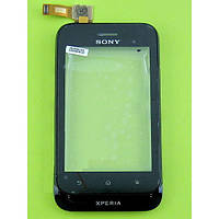 Сенсор (тачскрин) для Sony ST21i Xperia Tipo/ST21i2 и рамкой черный