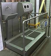 Санпропускник  с встроенным бесконтактным умывальником и зоной сушки для рук СПД 05.02(левосторонний)