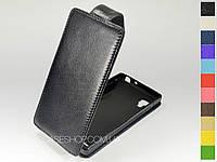 Откидной чехол из натуральной кожи для LG p765 Optimus L9