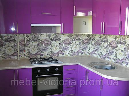 Кухня на заказ МДФ фиолет