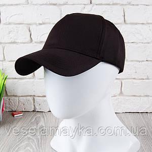 Чорна кепка на липучці (Преміум)