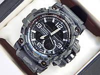 Спортивные наручные часы Casio G-SHOCK цвета хаки в темно-серых тонах