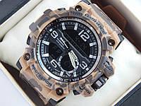 Спортивные мужские наручные часы Casio G-SHOCK цвета хаки в светло-коричневых тонах, фото 1