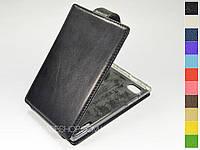 Откидной чехол из натуральной кожи для LG p895 Optimus Vu