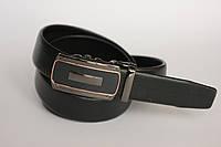 Мужской кожаный ремень, черный
