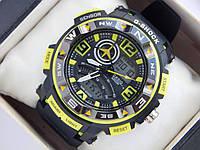 Спортивные наручные часы  Casio G-SHOCK ga-1000 желтые авиаторы