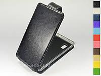 Откидной чехол из натуральной кожи для LG e975 Optimus G