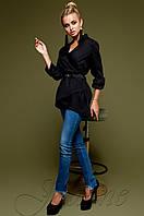 Черная женская рубашка Гремми Jadone Fashion 42-48 размеры