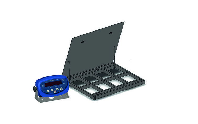 Весы платформенные с откидной платформой 4BDU600-1010ВП-Б бюджет 1000х1250 мм (до 600 кг), фото 2