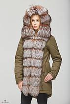 Женская зимняя куртка-парка с натуральным мехом разных цветов, фото 3