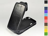 Откидной чехол из натуральной кожи для LG e455 Optimus L5 II Dual