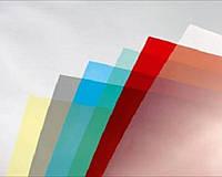 Обложка прозрачная цветная для переплета А4 200мк, (уп100 шт.)