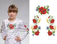 Заготовка для вишивання дитячої сорочки нитками або бісером на НАТУРАЛЬНІЙ тканині, фото 1