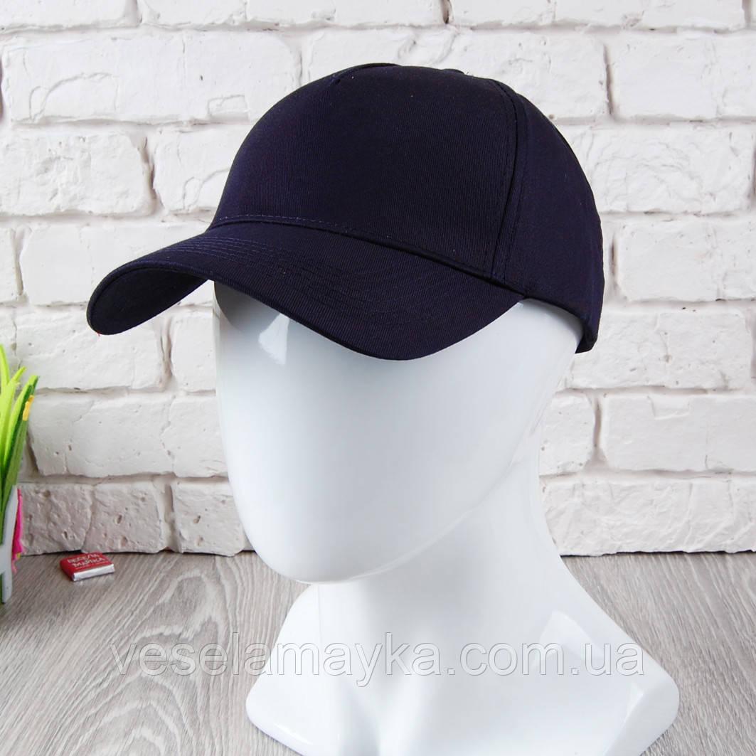 Глубоко темно-синяя кепка на липучке (Премиум)