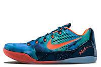 Баскетбольные кроссовки Nike Zoom Kobe 9 (найк зум коби 9) сине-зеленые