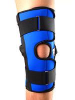 Наколенник разъемный для сильной фиксации коленного сустава с металлическими шарнирами