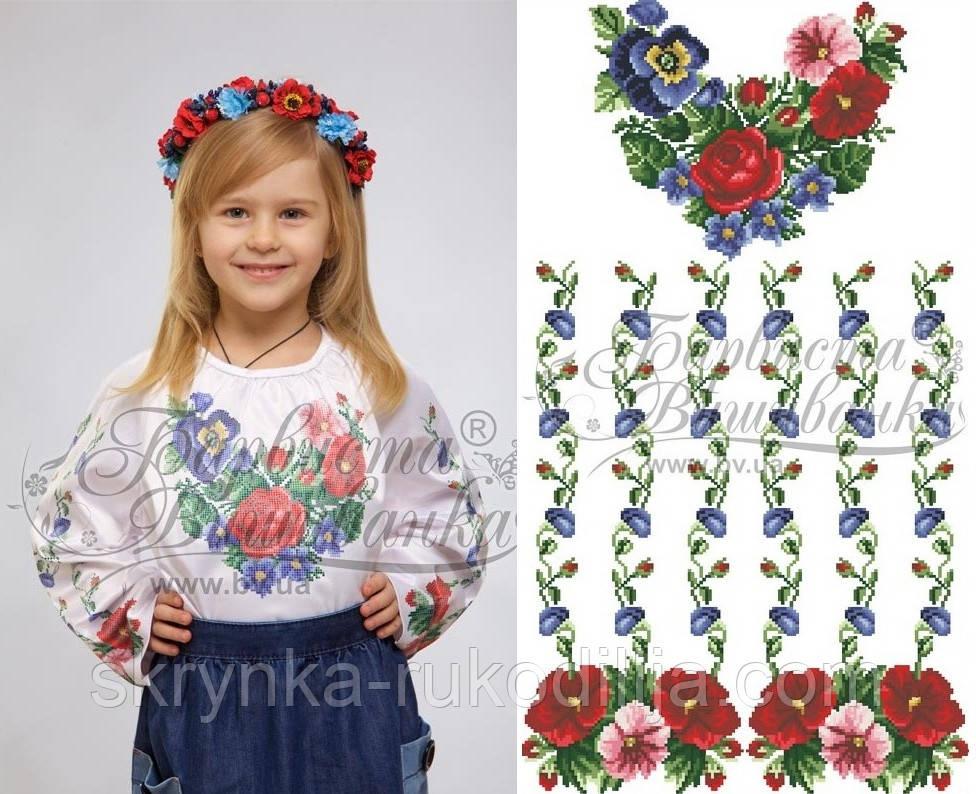 996155f748f8f5 Заготовка для вишивання дитячої сорочки нитками або бісером на НАТУРАЛЬНІЙ  тканині