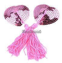 Стикини с пайетками розовые, фото 2