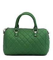 Женская  сумка из натуральной кожи фабричная (отшита  в Италии) зеленого цвета,на одно отделение