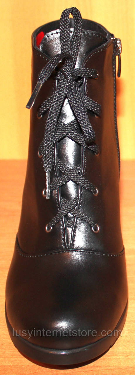 d9cd89c60 ... Высокие женские ботинки весенние кожаные на каблуке, женская обувь  весна от производителя модель СТБ15, ...