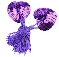 Стикини с пайетками фиолетовые