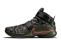 Кроссовки баскетбольные Nike Zoom LeBron Soldier 9 Camo (найк зум леброн солджер) камуфляжные