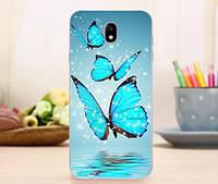 Оригинальный чехол панель накладка для Samsung J530 Galaxy J5 2017 с картинкой Три бабочки